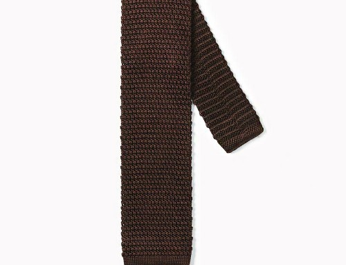 Knitted Tie Chocolate