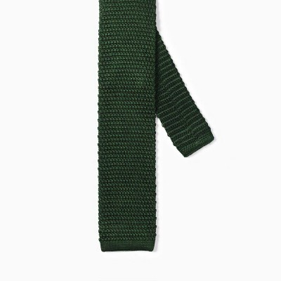 Knitted Tie Green