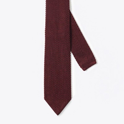 Knitted Tie Burgandy