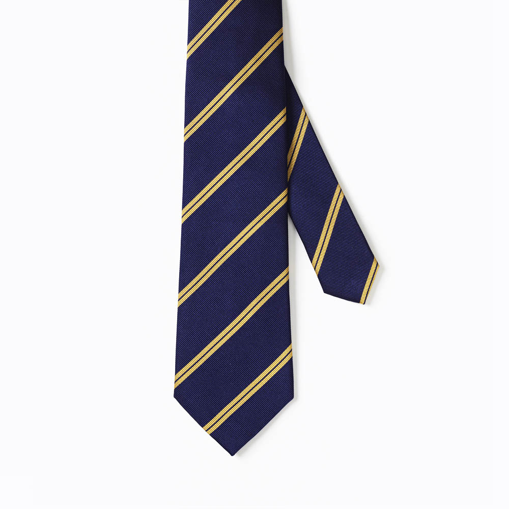 Navy and Gold Striped Tie