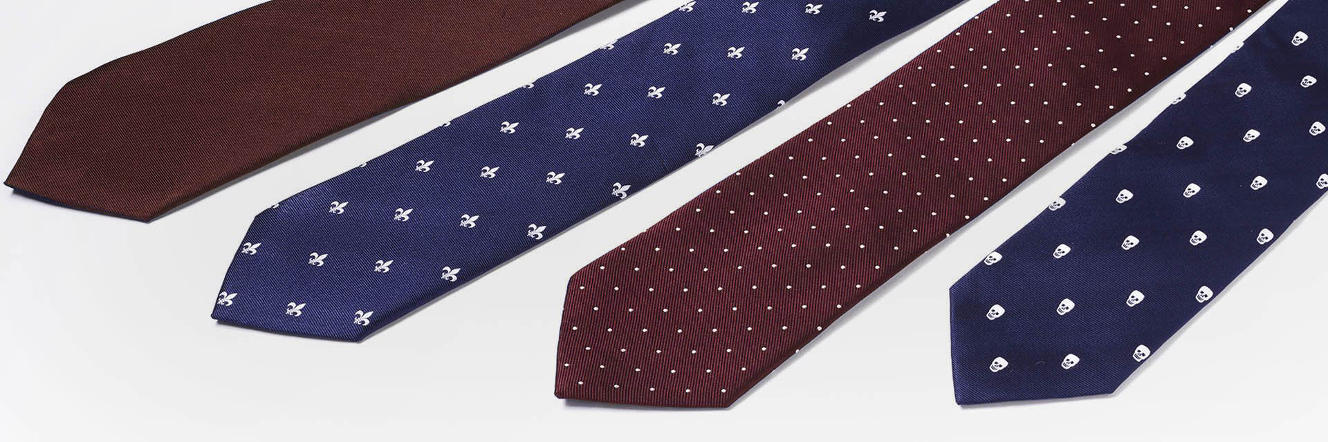 silk tie red and blue banner