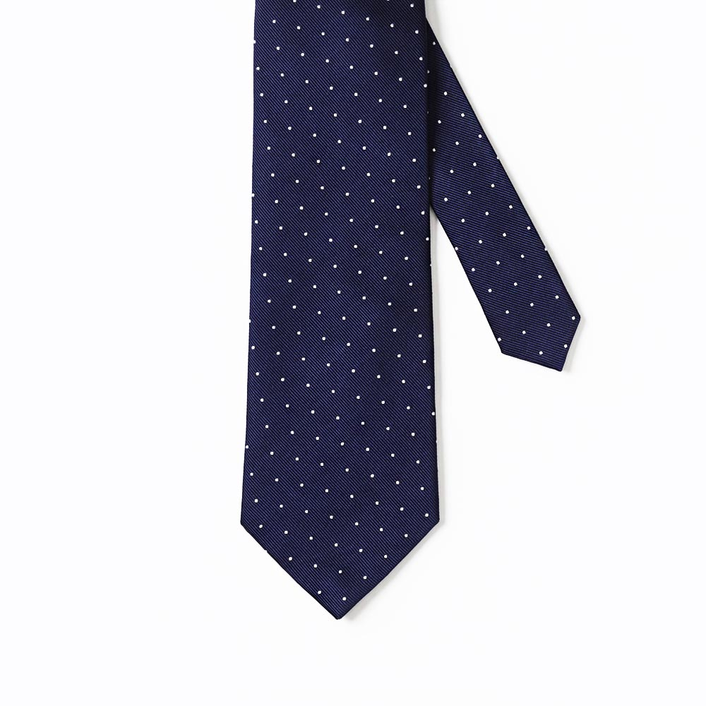Spotted Tie Navy